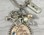 Step Mother of Bride Bracelet / Personalized Gift / Wedding Quote / Thank You Gift / Step Mom / Raising me as your own / Special Mom / Dads