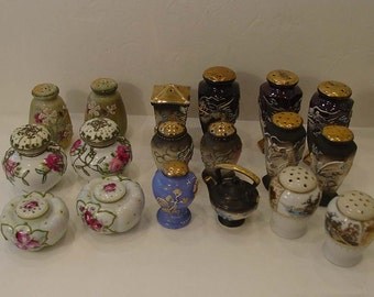 Moriage and Dragonware Salt and Pepper Shakers Lot