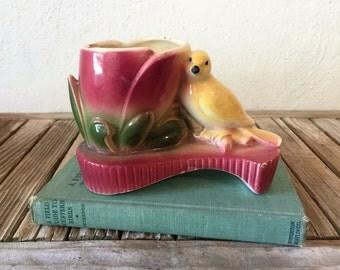 Collectible Art Deco Bird Planter