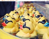 ON SALE Rubber Duck Photography- Carnival Game Photo, Yellow Ducks Print, Nursery Decor, Childrens Room Decor, Bathroom Decor, Fair Photogra