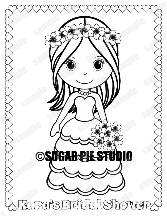 bridal shower coloring pages bridal shower coloring page party favor childrens kids
