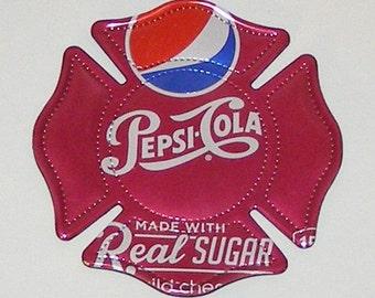 FIREMAN SHIELD Symbol - Wild Cherry Pepsi Soda Can