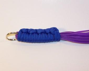 Mini Flogger Blue Handle Purple Vinyl Falls Mature