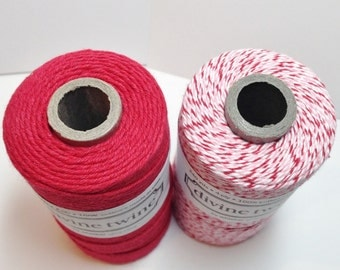 Divine Twine - Holiday Sampler - Two Colors - Your Choice of Holiday and Amount of Twine