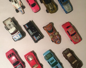 Dozen vintage hotwheels, matchbox, toy cars