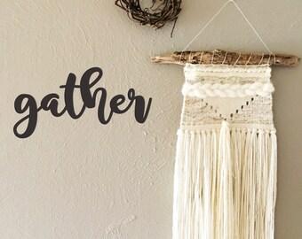 Gather Wood Cut Wall Art Hanging Decor - Thanksgiving Decorations Heart&HavenCo