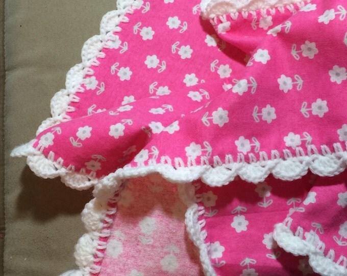 Baby Girl Blanket / Receiving  Blanket / Baby Blanket / Swaddle Blanket / Blanket / Pink Blanket /