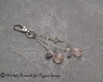 Angelic Gemstone Amulet Hanging Charm - Bag Charm, Key Chain, Car Mirror Mobile Charm (AMC0006)
