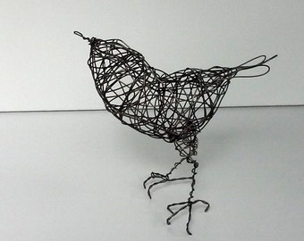 Original Handmade Wire Bird Sculpture - MARJORAM