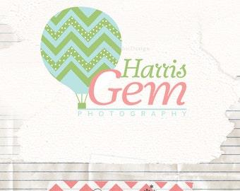 Hot balloon logo / Photography logo / Premade logo / Kids logo / Balloon logo / Business Logo / Baby kids logo / Boutique kids logo / Logos