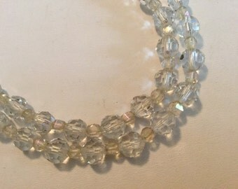Vintage Crystal Beaded Necklace