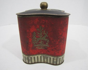 Tin Box Christmas Theme Vintage #070916