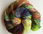 Dyed to Order - Hand Dyed Yarn - Sock Bulky DK Worsted Speckled Superwash Merino Wool {flagrant mayhem}