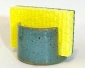 Sponge Holder, Turquoise Pottery Sponge Keeper, Handmade Ceramic Sponge Tray, laurenbauschoriginal