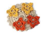 Crochet Earring - Crochet Jewelry - Crochet Accessories - Vegan Earrings - Dangle Earrings - Hook Earrings - Earrings - Vegan Jewelry