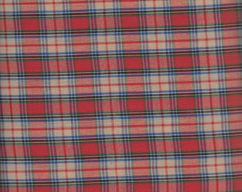 MacAndrew Tartan Plaid from Spechler Vogel (Red, Tan, Blue, and Green)
