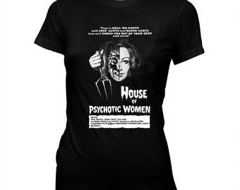 House of Psychotic Women - Paul Naschy - Women's Pre-shrunk, hand screened 100% cotton t-shirt