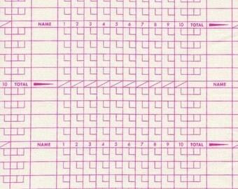 Cotton + Steel Score Card Plum 1/2 yd Cut