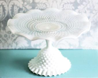Cake Stand / Milk Glass Cake Stand Pedestal / Cupcake Stand / Dessert Pedestal / Cake Plate Cake Platter / Cake Tray Cake Dish / Cake Salver