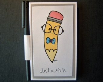 Cute Pencil Notepad with Pen