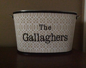 Beverage Tub/ Storage Tub Personalized