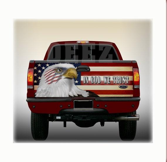 Tailgate Wrap Universal Fit 26 X 66 Patriotic