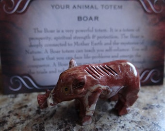 Hand Carved *BOAR* Animal Spirit Totem for Spiritual Jewelry or Crafts