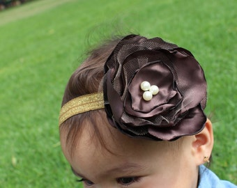 Brown Flower headband