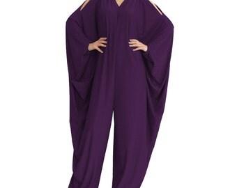 Plus size jumpsuit/ Wide leg jumpsuit/ Oversize jumpsuit/ Long sleeve jumpsuit/ Loose jumpsuit/ Women overall/ Women jumper/  Wide leg pants