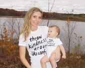Throw Kindness Like Confetti Onesies and T-shirts for baby, toddler, girls, boys, and women, mom, Maternity