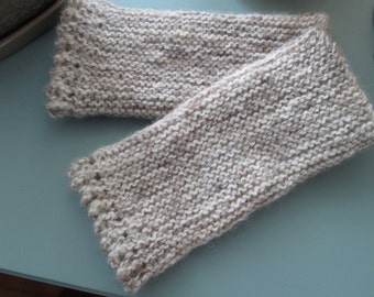 Hand knit Fingerless Gloves Gauntlets Shetland Wool Claire Outlander