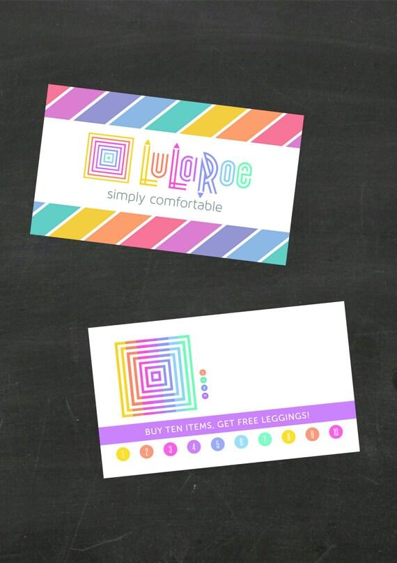 Lularoe rainbow business card blank jpeg files by for Lularoe buisness cards