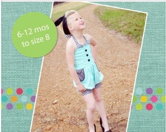 Sandy's Rockabilly Romper PDF Pattern Size 6/12m to 8 Girls