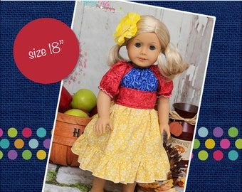 "HALFOFF SALE Marissa's Perfect Peasant Dress 18"" Doll Size PDF Pattern"