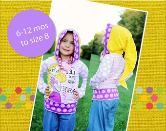 Trista's Knit Pixie T-shirt PDF Pattern sizes 6-12m to 8 girls