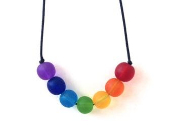 Nursing Necklace - Babywearing Necklace - Boules - Rainbow