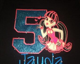 Monster High Draculaura Birthday Shirt