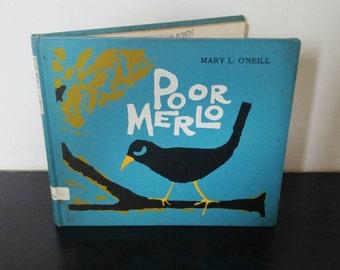 Vintage Children's Book - Poor Merlo - 1967 Rare