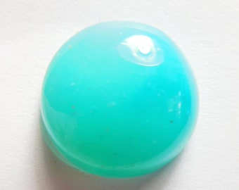 Gem silica  Designer cab  agatized Chrysacolla low dome round cabochon from the  Inspiration mine Mine Arizona 7.40 ct.