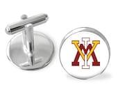 VMI cuff links, Virginia Military Institute inspired cufflinks, tie bar, gift for men, tie clip. Stocking stuffer,college logo, grooms gift