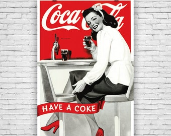 "Coca-Cola, Have a Coke, Vintage Advertising, Art Print Poster - 24""x36"""