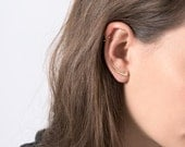 Modern Ear Cuff, Gold studs,Gold Earring Pin,Ear Jackets, Ear Climbers, Earrings,Stud Earrings