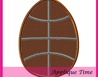 Instant Download Basketball Easter Egg Machine Embroidery Applique Design 4x4, 5x7 and 6x10
