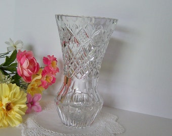 Crystal Vase Heavy Lead Glass for Bridal Shower Luncheon Decor, Housewarming Gift, or Hostess Gift