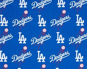 MLB Los Angeles Dodgers 100%Cotton Fabric by the yard