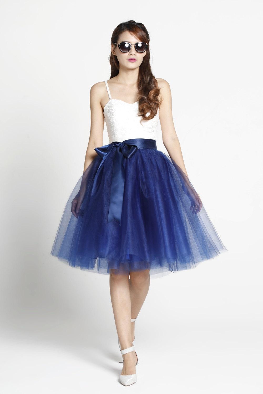 tulle skirt tea length knee length tutu skirt by