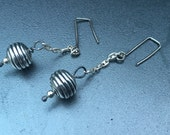 Earrings - Dangle - Sterling Silver - Boho - Rustic - Organic - Artisan Jewelry Sundance Style