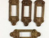 Vintage Framed Backless Bezels, Old Hardware Design, Brass Frames, Jewelry Making, Gingerbread, 22 x 63mm, B'sue Boutiques, Item08706