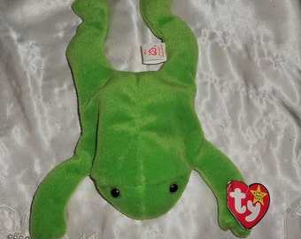 "Rare Beanie Baby ""First Edition"" TY ""Legs the Frog""Original Nine 1993  Free Shipping United States"