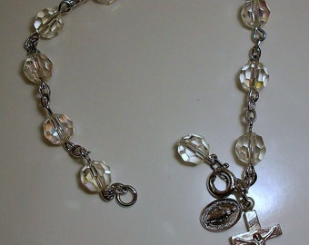 Vintage Rosary Decade Bracelet